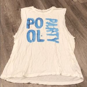 35mm Clothing White Pool Party Tank Top